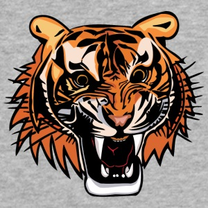 angry_tiger_head_color - Fitted Cotton/Poly T-Shirt by Next Level