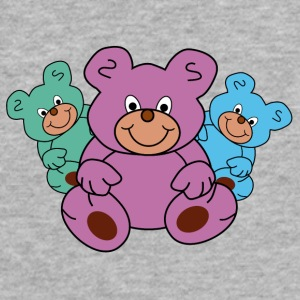 three little teddy bears - Fitted Cotton/Poly T-Shirt by Next Level