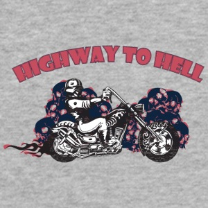 highway_to_hell_with_flame - Fitted Cotton/Poly T-Shirt by Next Level