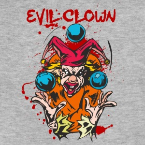 EVIL_CLOWN_9_bloody - Fitted Cotton/Poly T-Shirt by Next Level