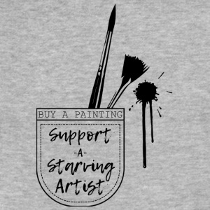 Support a Starving artist (2) - Fitted Cotton/Poly T-Shirt by Next Level