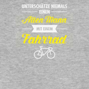 Alten mann mit einem fahrrad - Fitted Cotton/Poly T-Shirt by Next Level