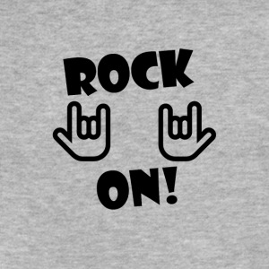 Rock On - Fitted Cotton/Poly T-Shirt by Next Level