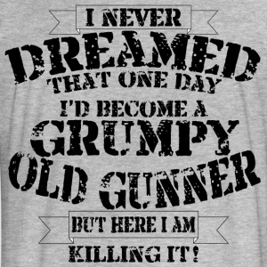 Grumpy Old Gunner - Fitted Cotton/Poly T-Shirt by Next Level