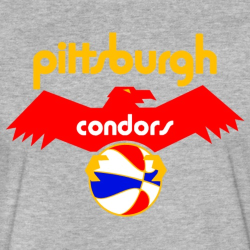 Pittsburgh Condors - On Gray - Fitted Cotton/Poly T-Shirt by Next Level