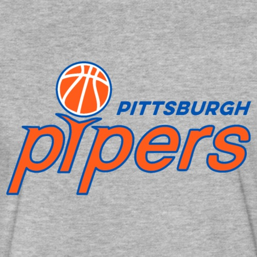 Pittsburgh Pipers - on Gray - Fitted Cotton/Poly T-Shirt by Next Level
