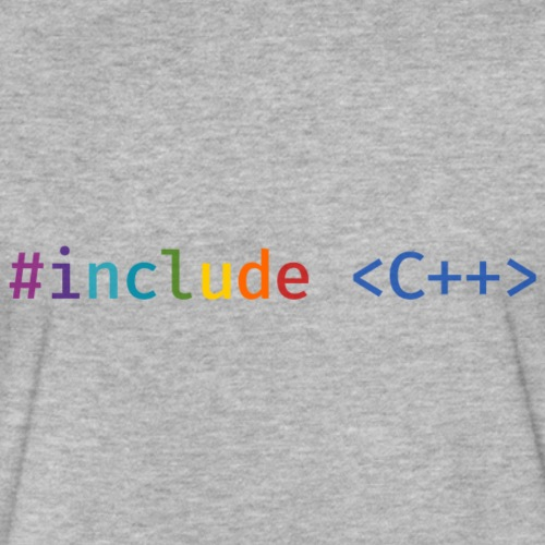 Rainbow Include C++ (Light Background) - Fitted Cotton/Poly T-Shirt by Next Level