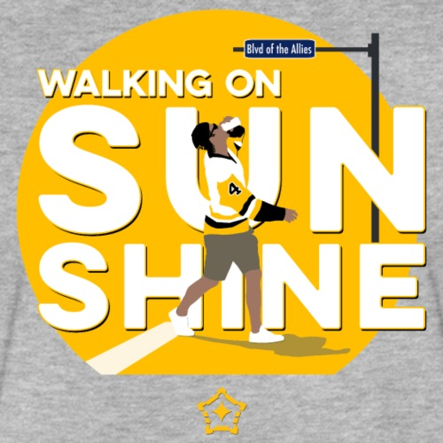 Walking On Sunshine - Parade - Fitted Cotton/Poly T-Shirt by Next Level