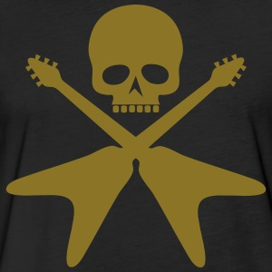 skull with crossed guitars - Fitted Cotton/Poly T-Shirt by Next Level