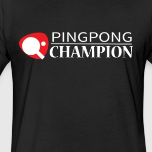 Ping Pong Champion Graphic Tee Shirt - Fitted Cotton/Poly T-Shirt by Next Level