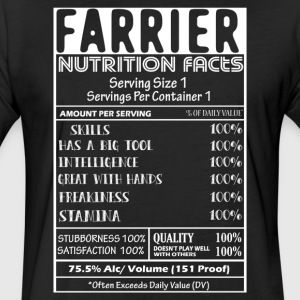 FARRIER NUTRITION FACTS SHIRT - Fitted Cotton/Poly T-Shirt by Next Level