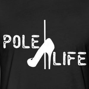 PoleLifeWhite - Fitted Cotton/Poly T-Shirt by Next Level