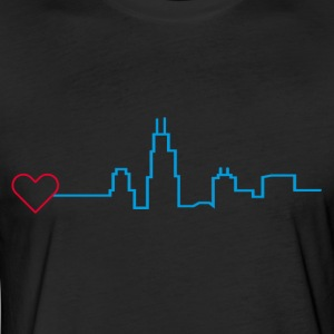 Heart for Chicago - Fitted Cotton/Poly T-Shirt by Next Level