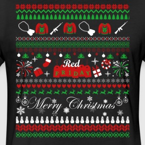 Red Friday Christmas Shirt - Fitted Cotton/Poly T-Shirt by Next Level