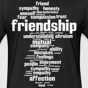 friendship - Fitted Cotton/Poly T-Shirt by Next Level