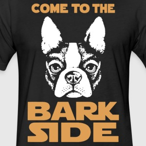 Boston Terrier Bark Side Shirt - Fitted Cotton/Poly T-Shirt by Next Level