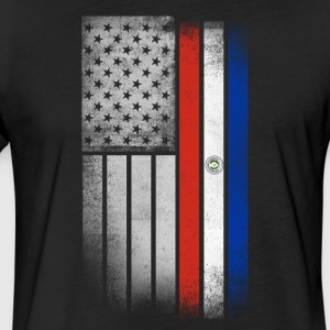Paraguayan American Flag - Fitted Cotton/Poly T-Shirt by Next Level