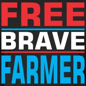 Free Brave Farmer - Fitted Cotton/Poly T-Shirt by Next Level