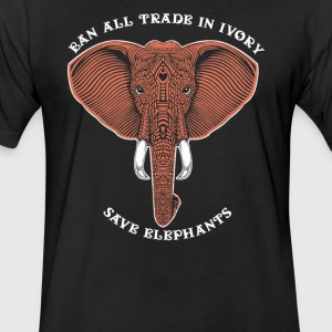 Trade in ivory save elephants - Fitted Cotton/Poly T-Shirt by Next Level
