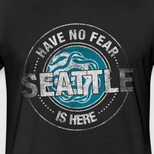 Have No Fear Seattle Is Here - Fitted Cotton/Poly T-Shirt by Next Level
