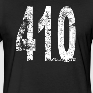 Vintage Baltimore Area Code 410 - Fitted Cotton/Poly T-Shirt by Next Level
