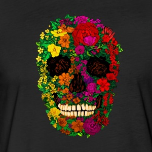 Rainbow Flowers Skull - Fitted Cotton/Poly T-Shirt by Next Level