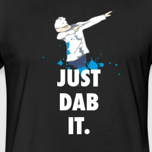 dab just dabbing football touchdown mooving dance - Fitted Cotton/Poly T-Shirt by Next Level