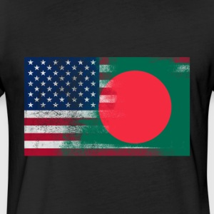 Bangladeshi American Half Bangladesh Half America - Fitted Cotton/Poly T-Shirt by Next Level