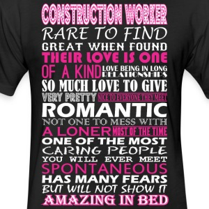 Construction Worker Rare Find Romantic Amazing Bed - Fitted Cotton/Poly T-Shirt by Next Level