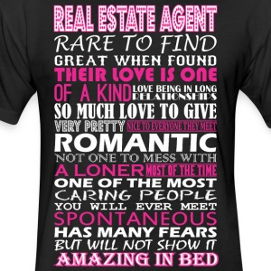 Real Estate Agent Rare Find Romantic Amazing Bed - Fitted Cotton/Poly T-Shirt by Next Level