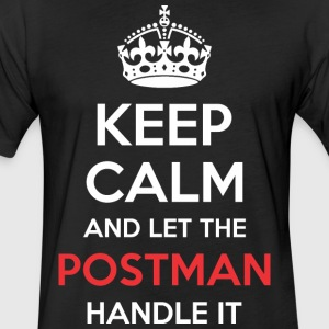 Keep Calm And Let Postman Handle It - Fitted Cotton/Poly T-Shirt by Next Level