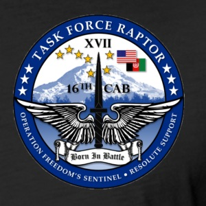 Task Force Raptor Deployment Logo - Fitted Cotton/Poly T-Shirt by Next Level