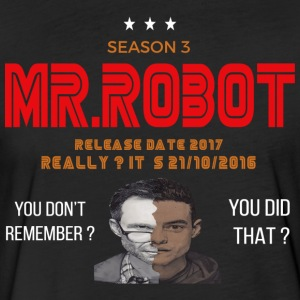Mr ROBOT - Fitted Cotton/Poly T-Shirt by Next Level