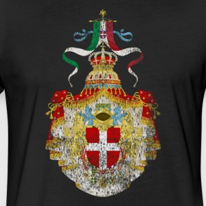 Italian Coat of Arms Italy Symbol - Fitted Cotton/Poly T-Shirt by Next Level