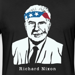 President Richard Nixon American Patriot Vintage - Fitted Cotton/Poly T-Shirt by Next Level