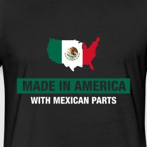 Made In America With Mexican Parts Mexico Flag - Fitted Cotton/Poly T-Shirt by Next Level