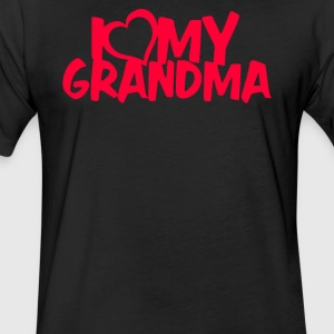 I LOVE MY GRANDMA - Fitted Cotton/Poly T-Shirt by Next Level
