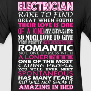 Electrician Rare To Find Romantic Amazing To Bed - Fitted Cotton/Poly T-Shirt by Next Level
