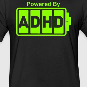 Battery Powered ADHD Energy - Fitted Cotton/Poly T-Shirt by Next Level