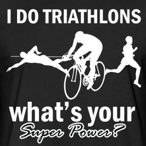 triathlons design - Fitted Cotton/Poly T-Shirt by Next Level