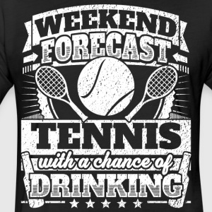 Weekend Forecast Tennis Drinking Tee - Fitted Cotton/Poly T-Shirt by Next Level