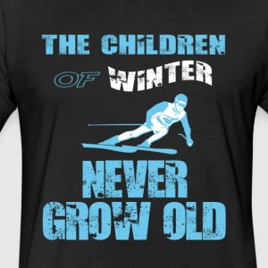 The Children Of Winter Never Grow Old T Shirt - Fitted Cotton/Poly T-Shirt by Next Level