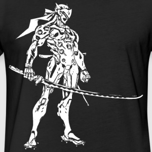 genji sword style - Fitted Cotton/Poly T-Shirt by Next Level