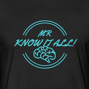 MR KNOWITALL - Fitted Cotton/Poly T-Shirt by Next Level