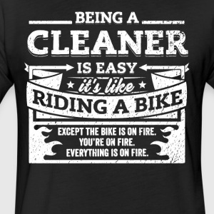 Cleaner Shirt: Being A Cleaner Is Easy - Fitted Cotton/Poly T-Shirt by Next Level