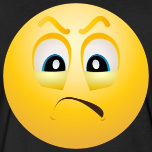Angry Emoticon face - Fitted Cotton/Poly T-Shirt by Next Level