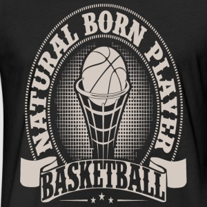 Natural hair - Natural Born Player Basketball - Fitted Cotton/Poly T-Shirt by Next Level