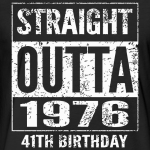 1976 - Straight Outta 1976 Funny 41th Birthday G - Fitted Cotton/Poly T-Shirt by Next Level