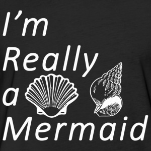 Sexy anime girls - Sassy | Im Really A Mermaid - Fitted Cotton/Poly T-Shirt by Next Level
