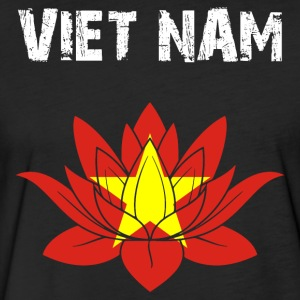 Nation-Design Viet Nam Lotus - Fitted Cotton/Poly T-Shirt by Next Level